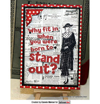 Darkroom Door - Quote Stamp - Stand Out - Red Rubber Cling Stamp