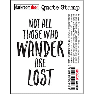Darkroom Door - Quote Stamp - Wander - Red Rubber Cling Stamp