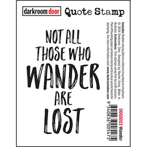 Darkroom Door - Wander - Red Rubber Cling Stamp