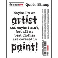 Darkroom Door - Artist - Red Rubber Cling Stamp