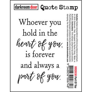 Darkroom Door - Part of You - Red Rubber Cling Stamp