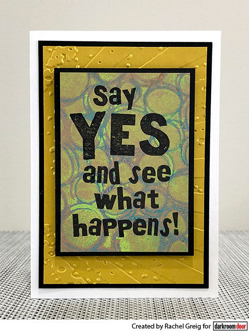 Darkroom Door - Say Yes - Red Rubber Cling Stamp