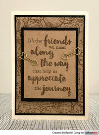 Darkroom Door - Quote Stamp - Along the Way - Red Rubber Cling Stamp
