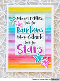 Darkroom Door - Look for the Stars - Red Rubber Cling Stamp