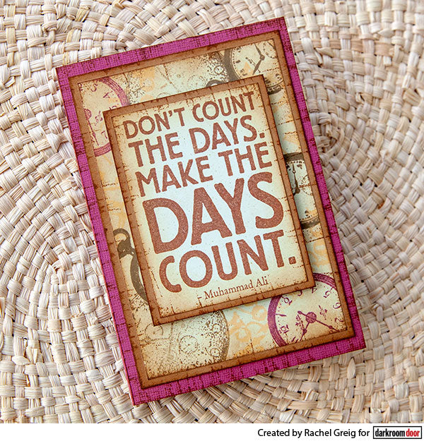 Darkroom Door - Quote Stamp - Days Count - Red Rubber Cling Stamp