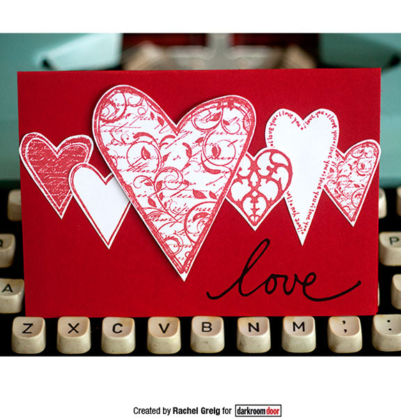 Darkroom Door - Rubber Stamp Set - Hearts