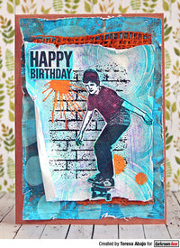 Darkroom Door - Skater - Red Rubber Cling Stamps