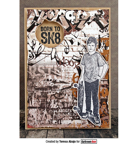 Darkroom Door - Rubber Stamp Set - Skater