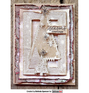 Darkroom Door - Rubber Stamp Set - Red Rubber Cling Stamps - Stitched Christmas