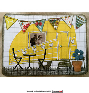 Darkroom Door - Rubber Stamp Set - Carved Caravans