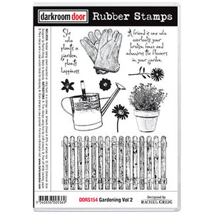 Darkroom Door - Gardening Vol 2 - Red Rubber Cling Stamps