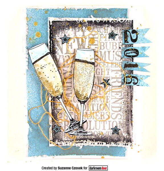 Darkroom Door - Rubber Stamp Set - Celebration