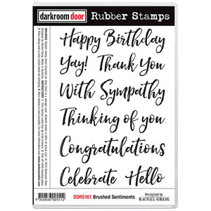 Darkroom Door - Rubber Stamp Set - Brushed Sentiments