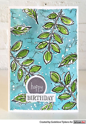 Darkroom Door - Rubber Stamp Set - Fine Leaves