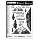 Darkroom Door - Majestic Mountains - Red Rubber Cling Stamps