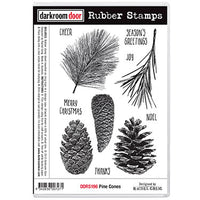 Darkroom Door - Rubber Stamp Set - Pine Cones