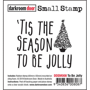 Darkroom Door - To Be Jolly - Red Rubber Cling Stamp