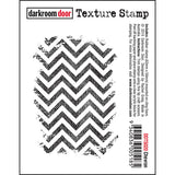 Darkroom Door - Chevron - Red Rubber Cling Stamp