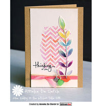 Darkroom Door - Texture Stamp - Chevron - Red Rubber Cling Stamp