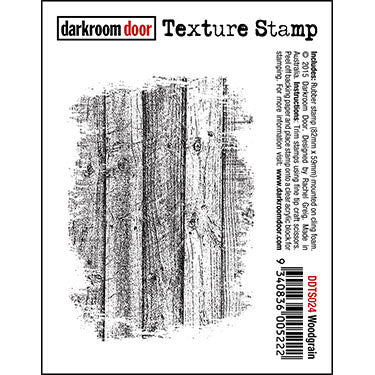Darkroom Door - Texture Stamp - Woodgrain - Red Rubber Cling Stamp