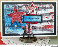 Darkroom Door - Corrugated Iron - Red Rubber Cling Stamp