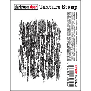 Darkroom Door - Texture Stamp - Peeled Paint - Red Rubber Cling Stamp