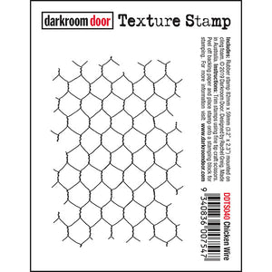 Darkroom Door - Texture Stamp - Chicken Wire - Red Rubber Cling Stamp