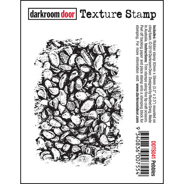 Darkroom Door - Texture Stamp - Pebbles - Red Rubber Cling Stamp