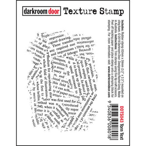 Darkroom Door - Torn Text - Red Rubber Cling Stamp