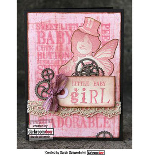 Darkroom Door - Word Block - Baby - Red Rubber Cling Stamps