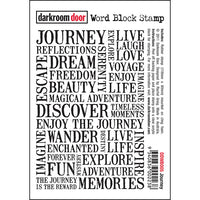 Darkroom Door - Word Block - Journey - Red Rubber Cling Stamps
