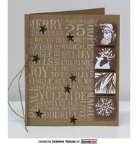 Darkroom Door -  Christmas Word Block - Red Rubber Cling Stamps