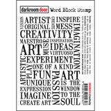 Darkroom Door - Creativity Word Block - Red Rubber Cling Stamps