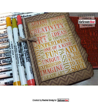 Darkroom Door - Word Block - Creativity - Red Rubber Cling Stamps
