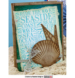 Darkroom Door - Seaside Word Block - Red Rubber Cling Stamps
