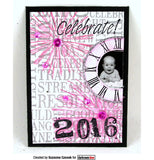 Darkroom Door - Happy New Year - Word Block - Red Rubber Cling Stamps