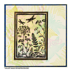 Crafty Individuals - Unmounted Rubber Stamp - 176 - Dancing Dragonflies