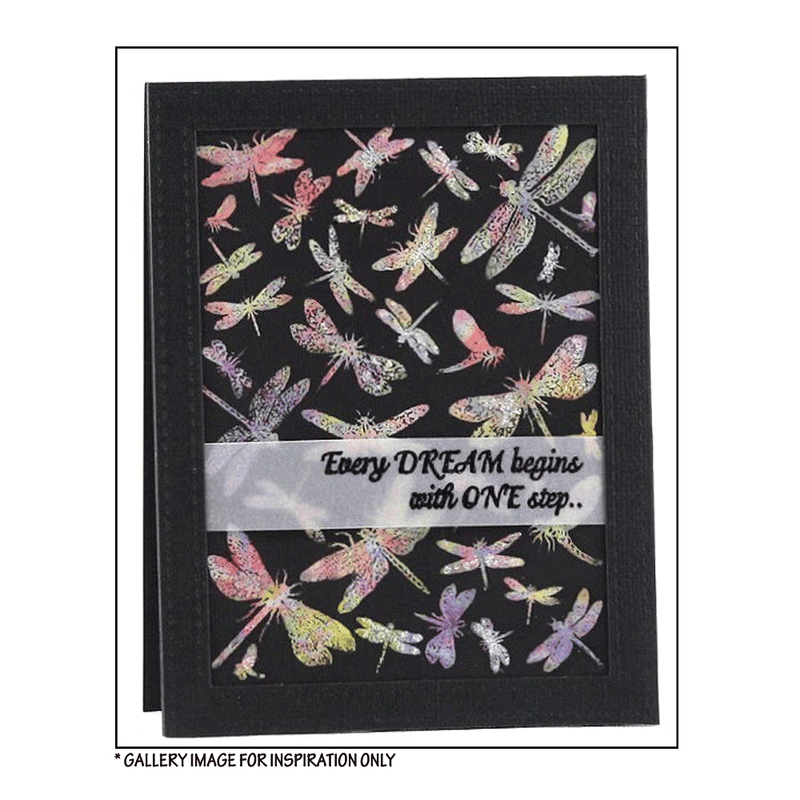 Crafty Individuals - Unmounted Rubber Stamp - 409 - Dreaming of Dragonflies