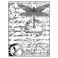 Crafty Individuals - Unmounted Rubber Stamp - Dragonfly Post