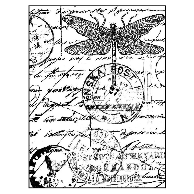 Crafty Individuals - Unmounted Rubber Stamp - 001 - Dragonfly Post