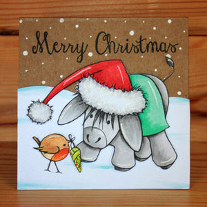 Hobby Art Stamps - Clear Polymer Stamp Set - A5 - Dudley Donkey Does Christmas