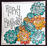 PaperArtsy - Tracy Scott 06 - Rubber Cling Mounted Stamp Set