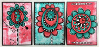 PaperArtsy - Tracy Scott 07 - Rubber Cling Mounted Stamp Set