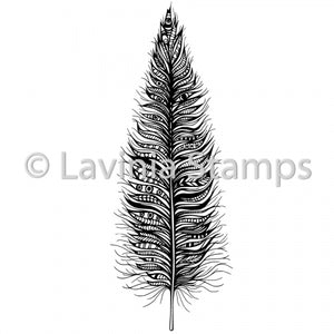 Lavinia - Feather - Clear Polymer Stamp