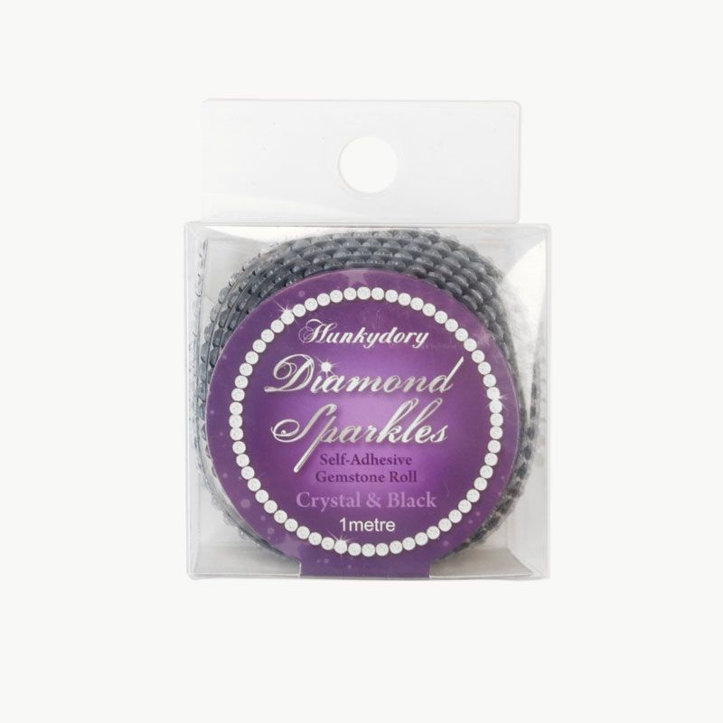 Hunkydory - Diamond Sparkles Gemstone Roll - Crystal & Black