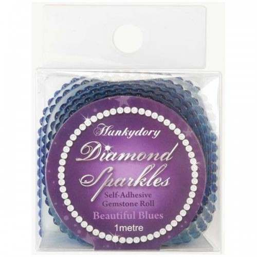 Hunkydory - Diamond Sparkles Gemstone Roll - Beautiful Blues