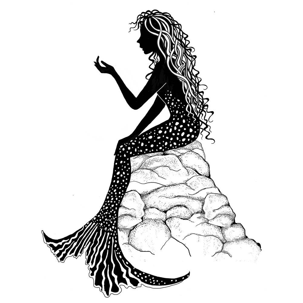 Lavinia - Guinevere Mermaid - Clear Polymer Stamp