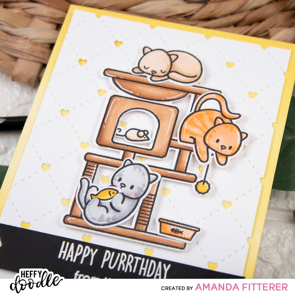 Heffy Doodle - Clear Stamp Set - Purrfect Day