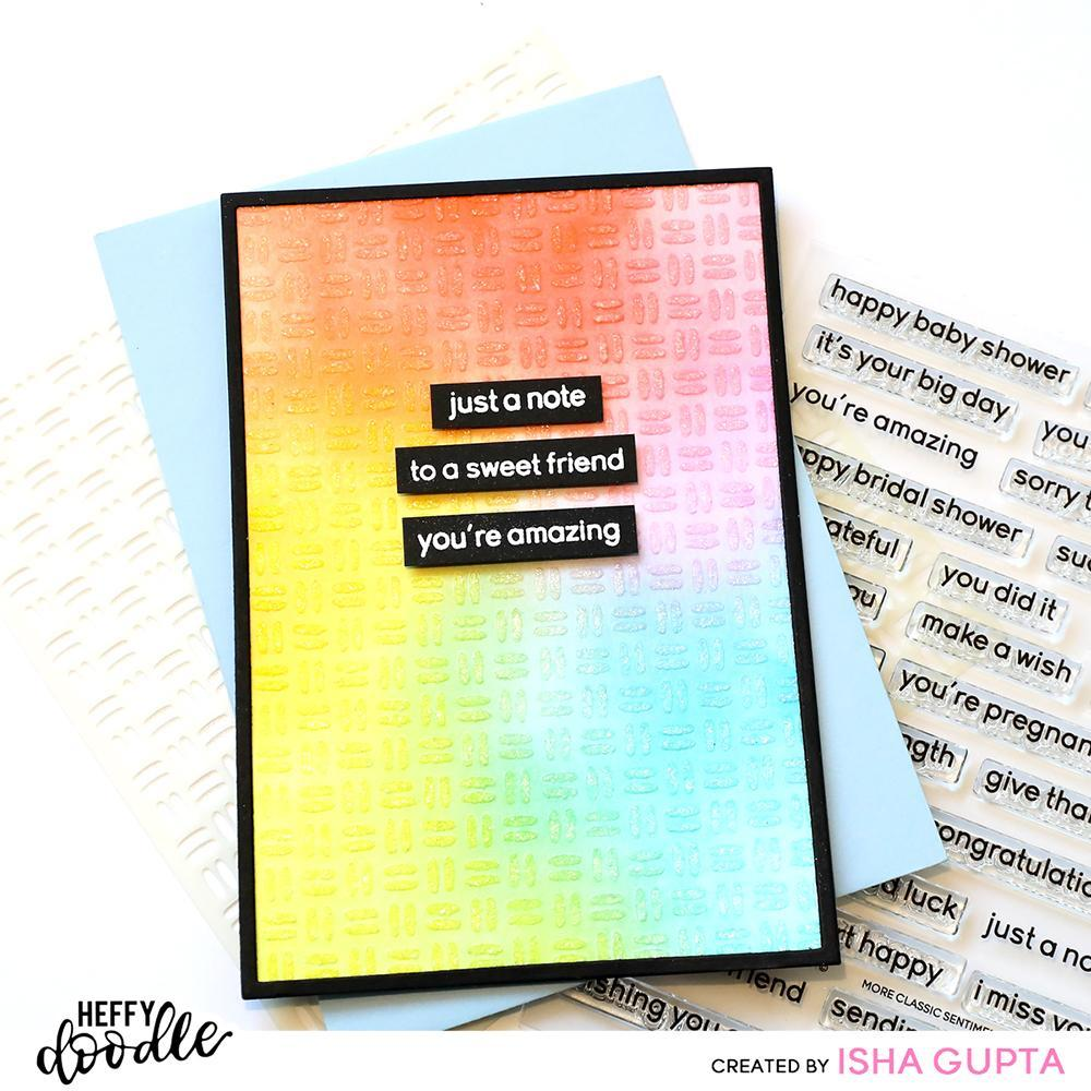 Heffy Doodle - Clear Stamp Set - More Classic Sentiments