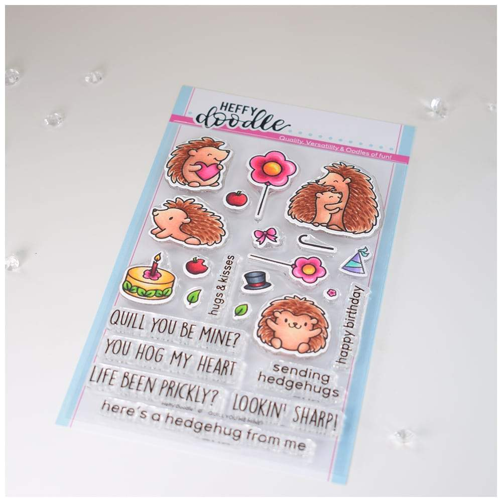 Heffy Doodle - Clear Stamp Set - Quill You Be Mine